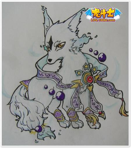龙斗士自创宠物 迪莫手绘作品