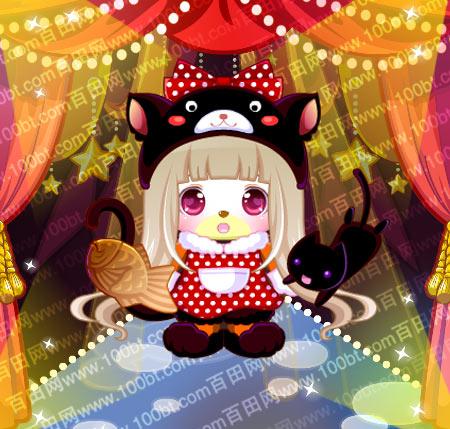 奥比岛可爱小黑猫套装服装图鉴