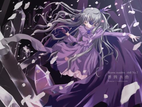 有什么好看的动漫女孩图.要紫色的!