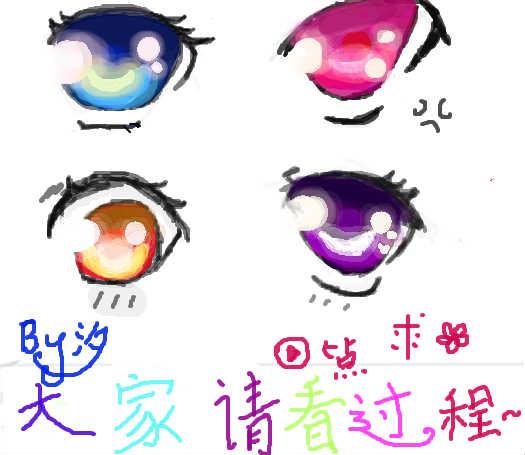 漫画女生手绘眼睛图片