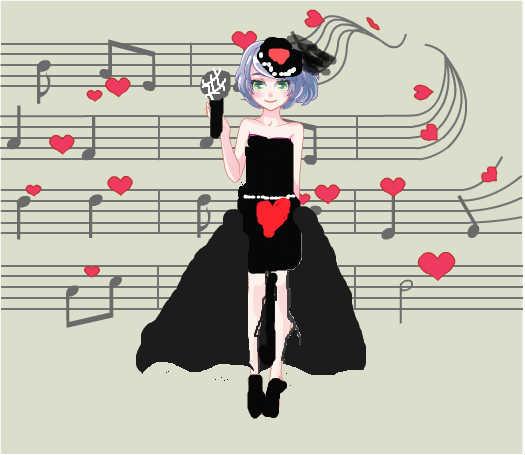 唱歌可爱矢量图