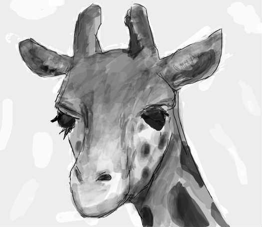 可爱长项鹿简笔画
