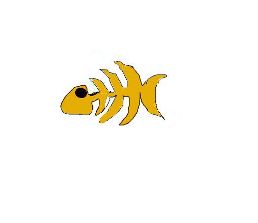简笔画鱼骨头图片_简笔画鱼骨头图片下载