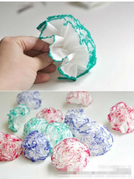 卫生纸做花步骤图