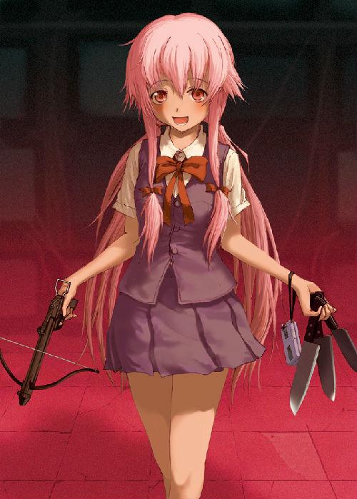 3.未来日记(我妻由乃) -哪些动漫的女主是粉红色头发滴 动漫圈 百田