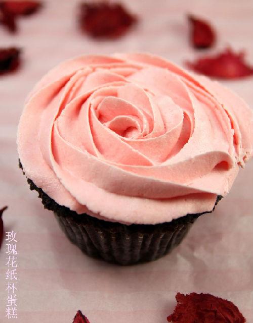 玫瑰花纸杯蛋糕~~不知道老妈会不会做哈哈