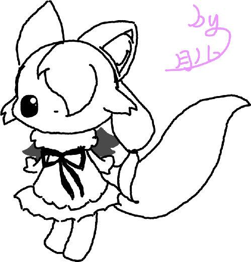 喵咪可爱手绘图片