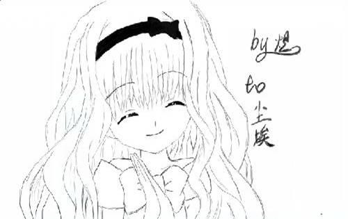 美少女绘画简图_绘画分享