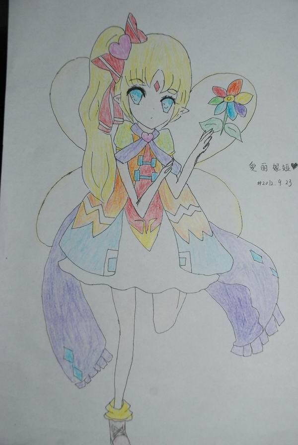 【塔玛希】手绘爱丽妮娅拟人版一张