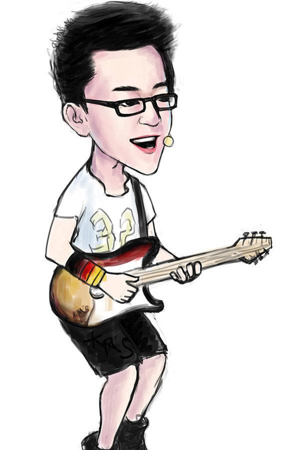中国好声音 大神手绘卡通形象