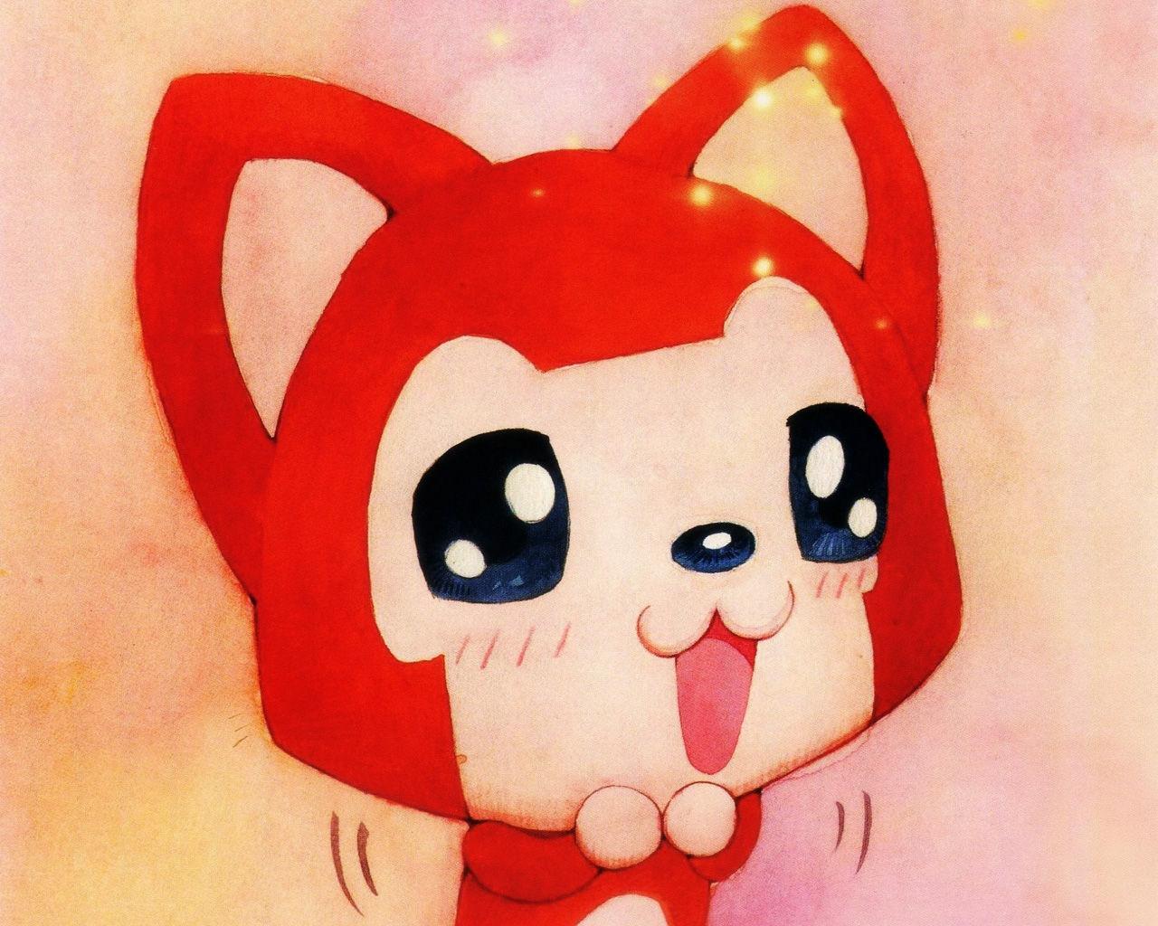 1l献樱桃姐和百田~~~~~ 阿狸镇楼~~~~~ 一只红色滴小狐狸~一条小白