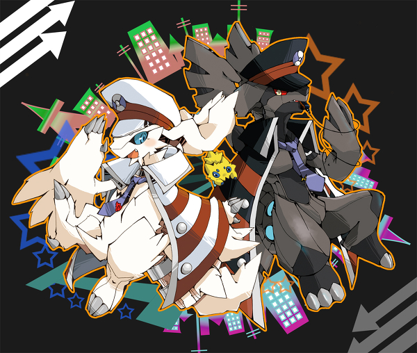 【精】口袋妖怪黑白神兽萌图