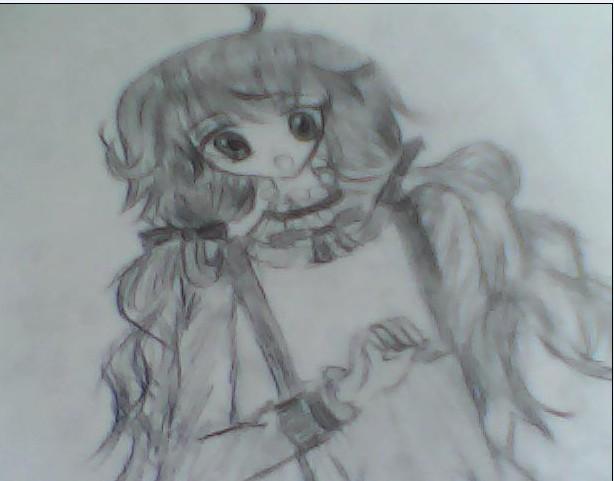 小淑女手绘明信片