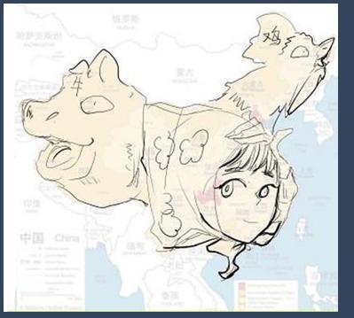 中国地图拟人 动漫圈