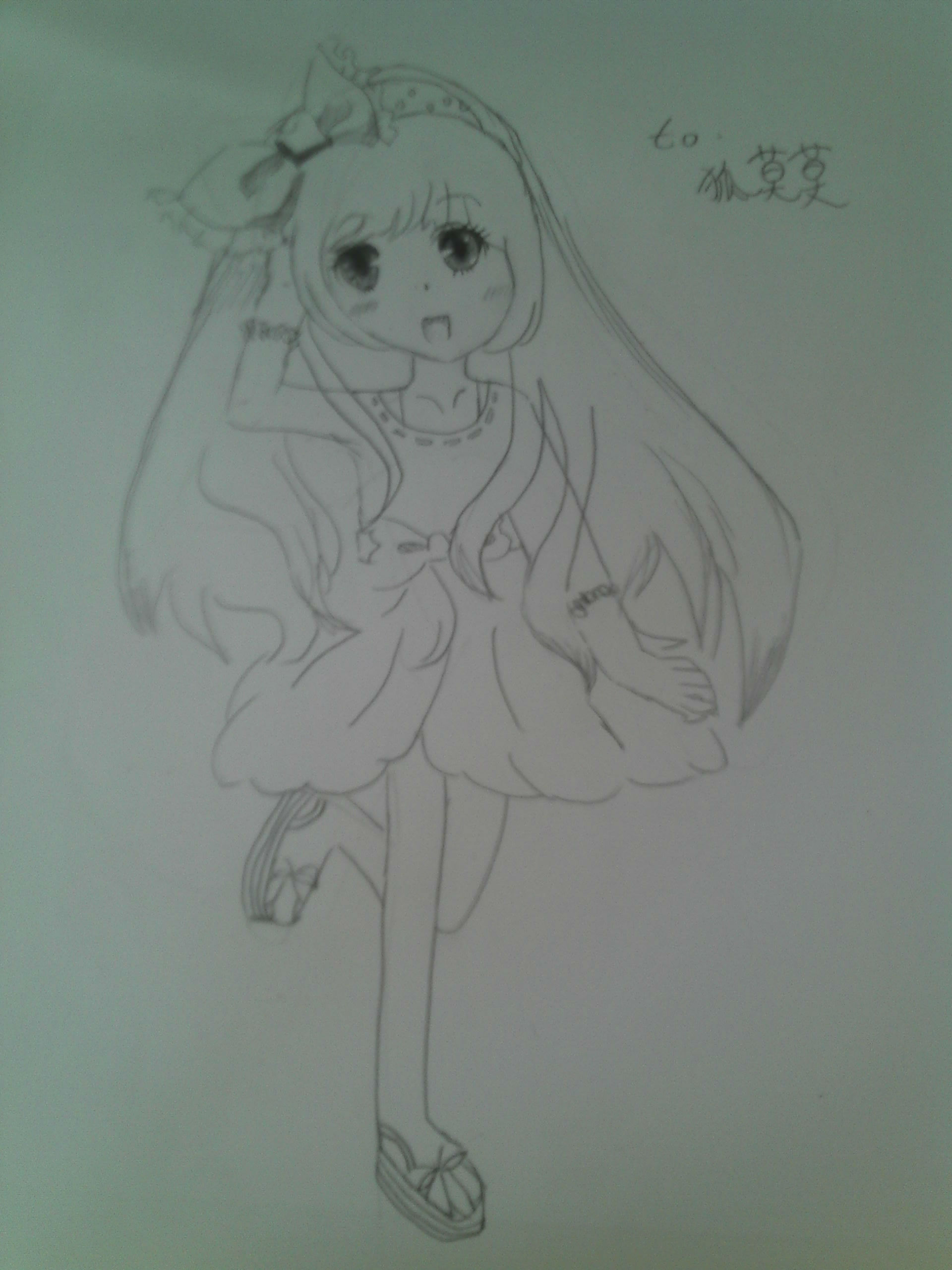 【蔷薇】自己画的龙妮和迷蝶花仙,大家也发发形象卡