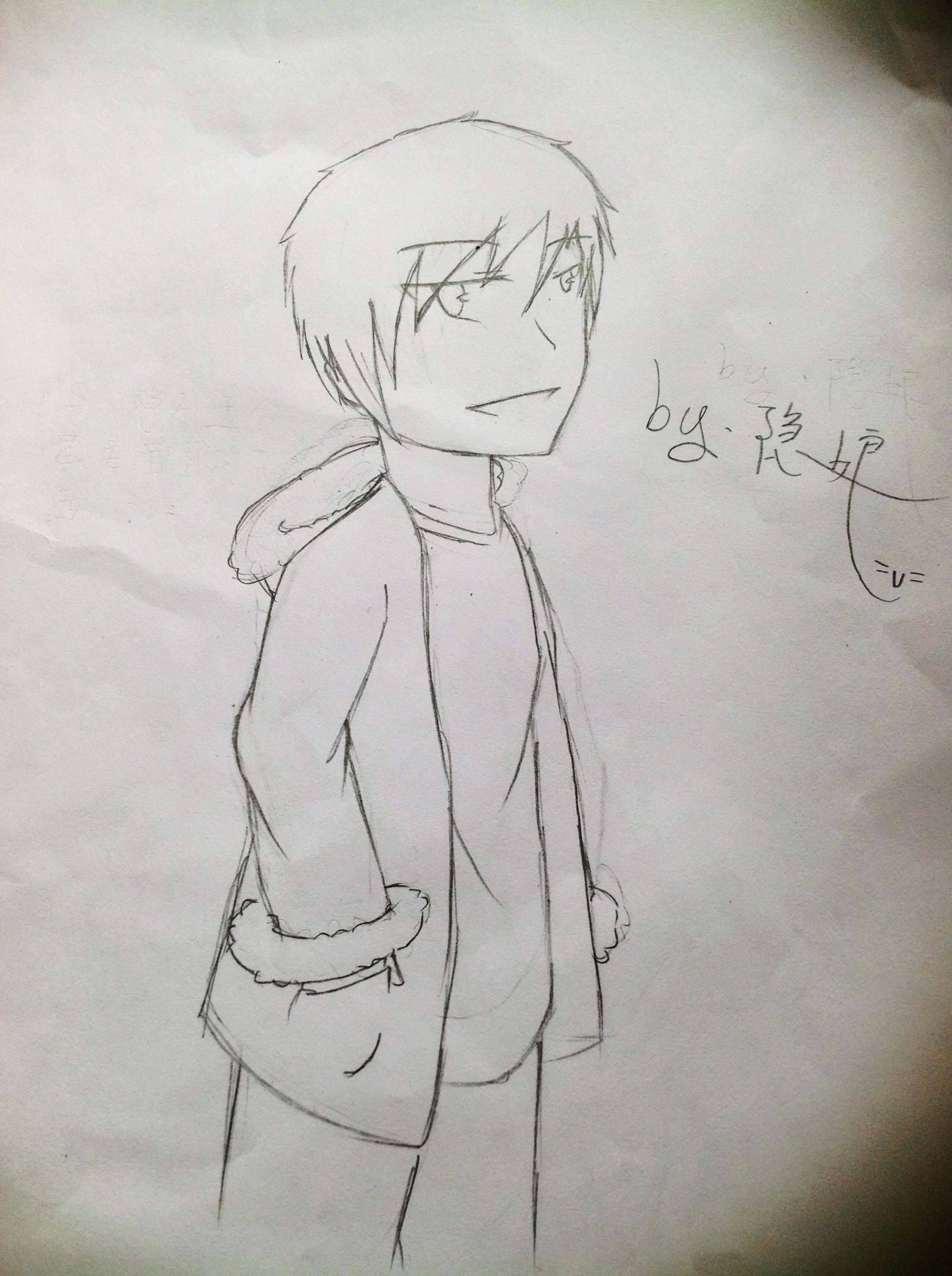 手绘萌版人物铅笔画8开纸