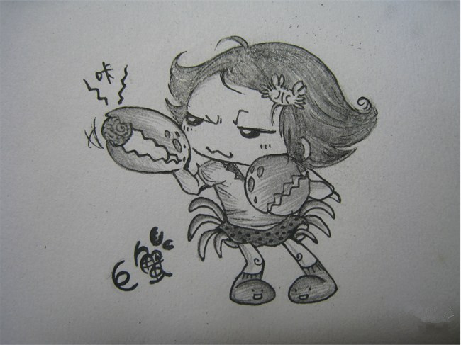十二星座可爱娃娃简笔画