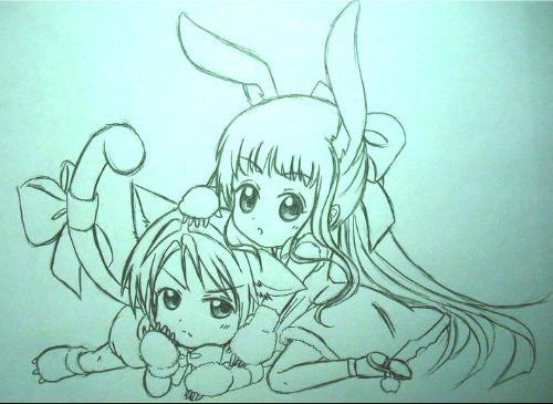 投稿 百田卡通小兔子拟人化