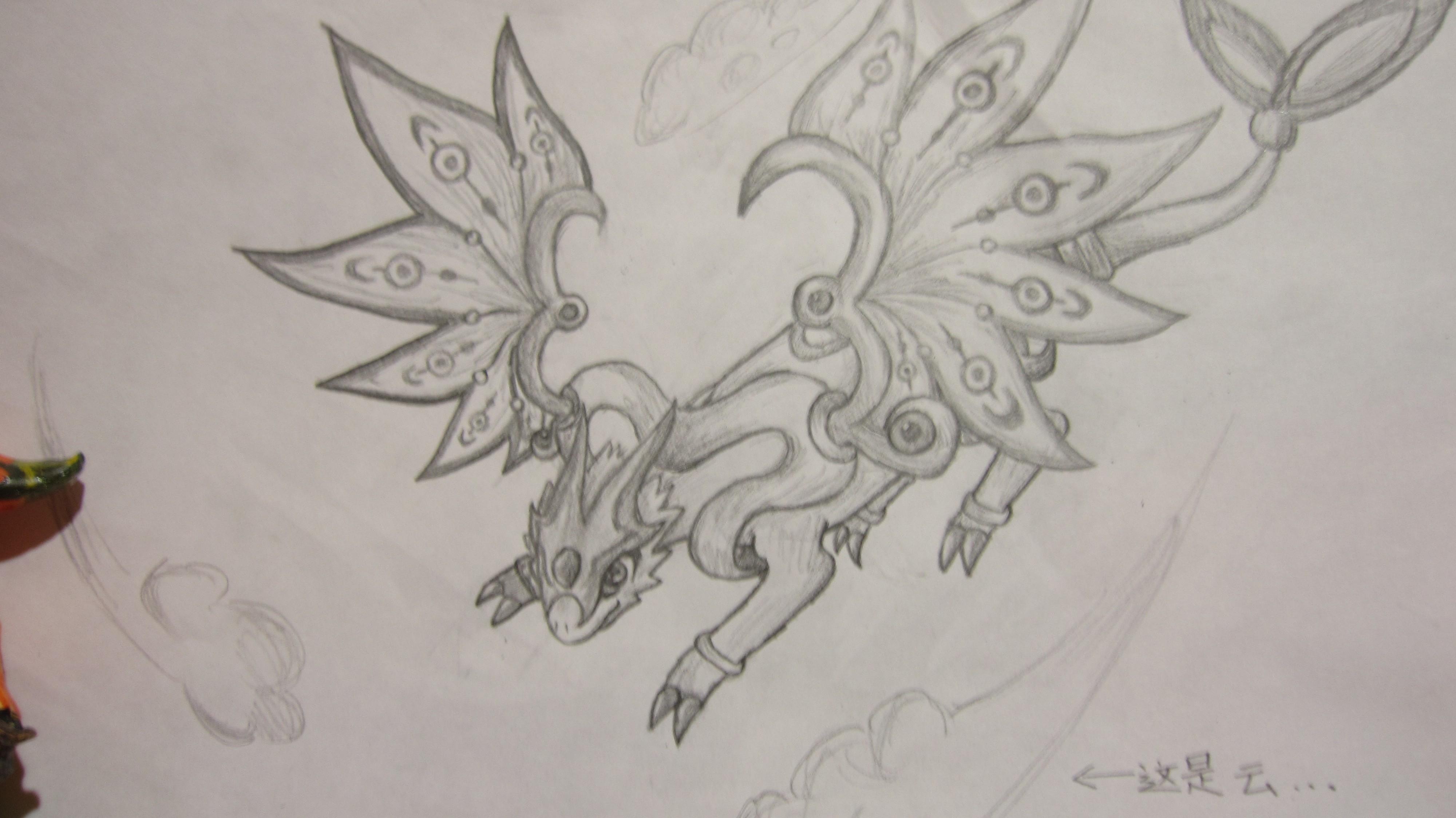 纯铅笔手绘 龙斗士暗影月神
