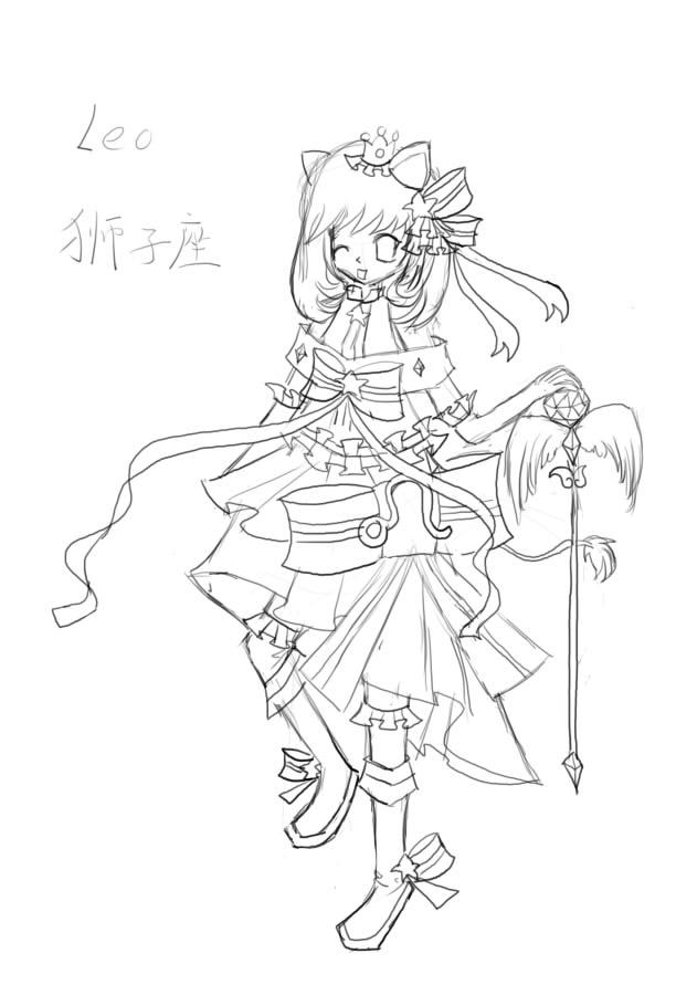 【抹茶】(板绘)十二星座女生形象