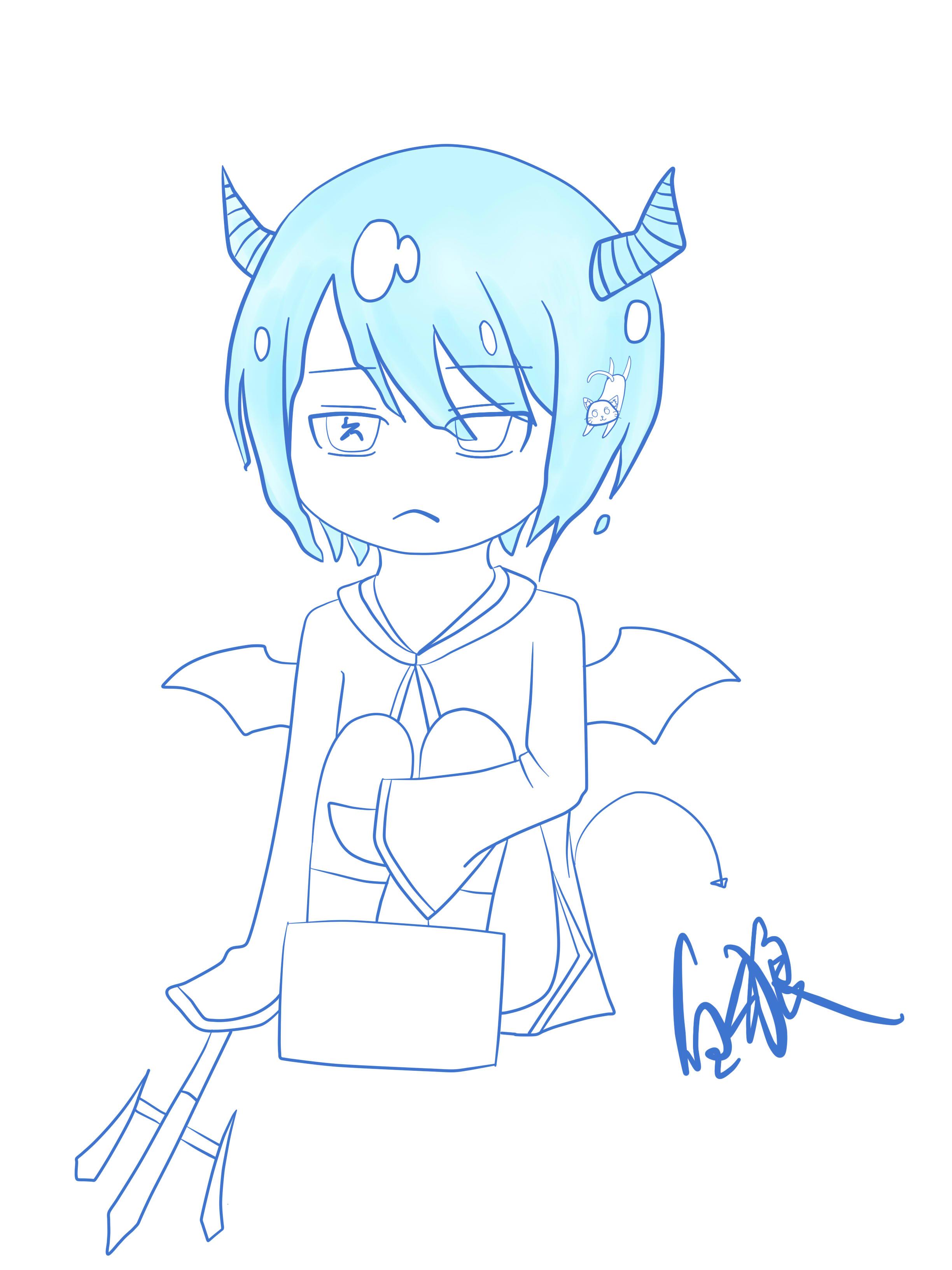 蓝狼的简笔画