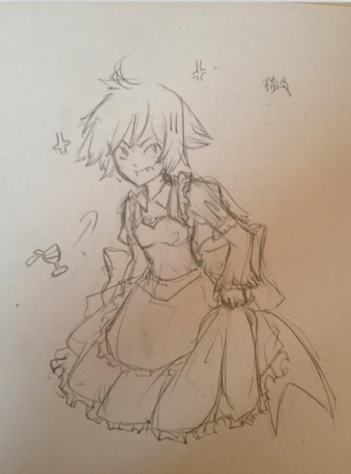 鱼尾婚纱设计图素描