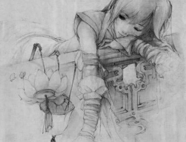 初音手绘 铅笔画