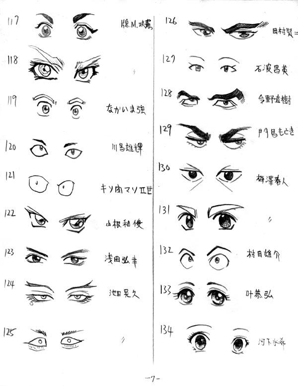 眼睛图片动漫_手绘眼睛100种画法