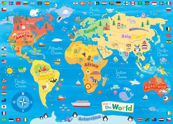 世界地图:下一个站,小橙准备去__泰国的清迈__.