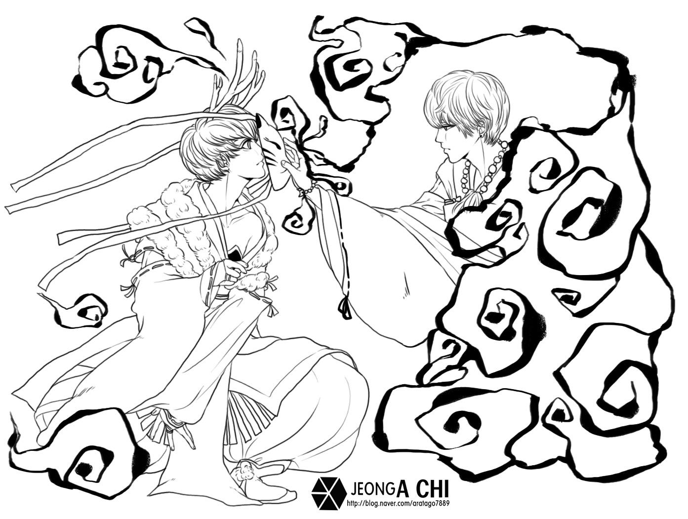exo超能力标志简笔画