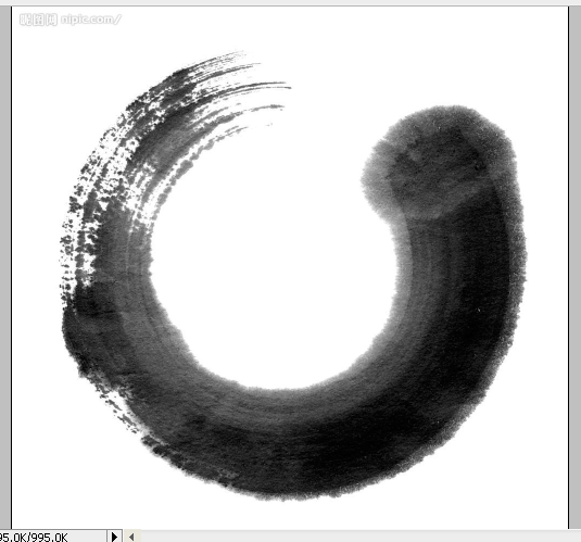 【涟】原创ps教程,简单蒙版抠图做笔刷——墨痕