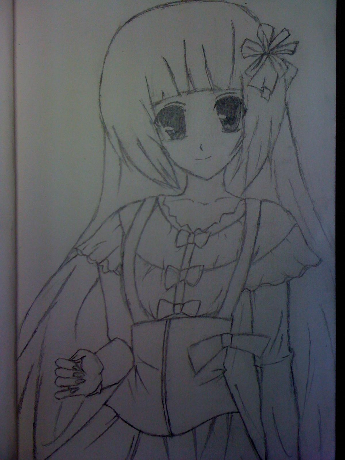 【彩蝶】教你怎样画萌系美少女~~喜欢画画的孩纸