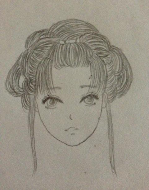 【小艿】手绘.古典头发