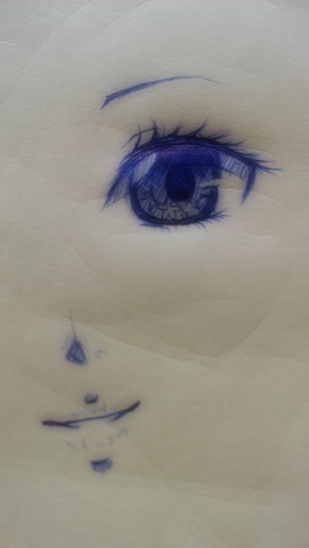 手绘哭泣眼睛图片