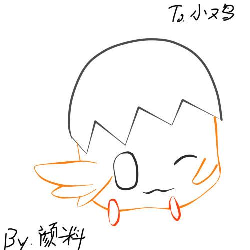【颜料】送给吃板蓝根的小鸡个头像