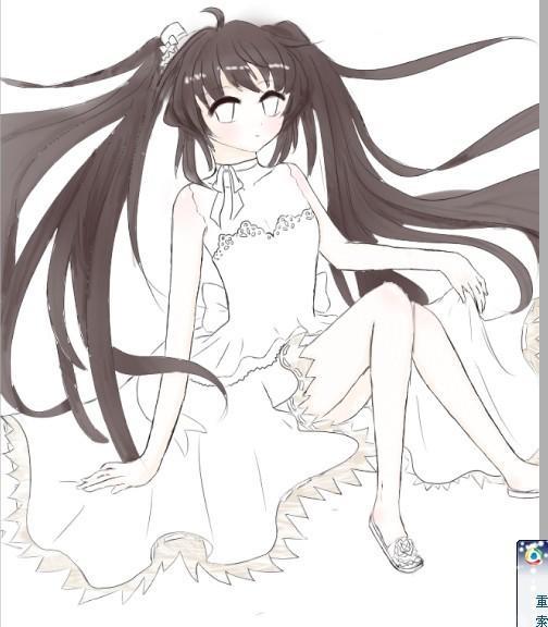 【小忆】直播教程 美少女画法