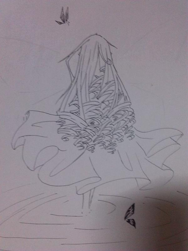 狐妖小红娘铅笔手绘画