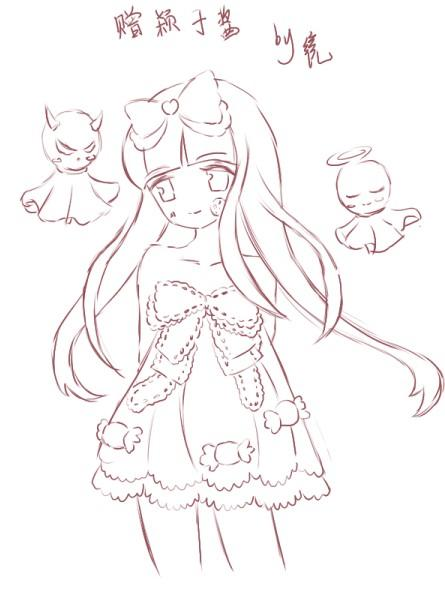 小姑娘简笔画穿裙子分解步骤图