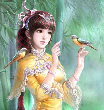 古代宫斗女子丹青图