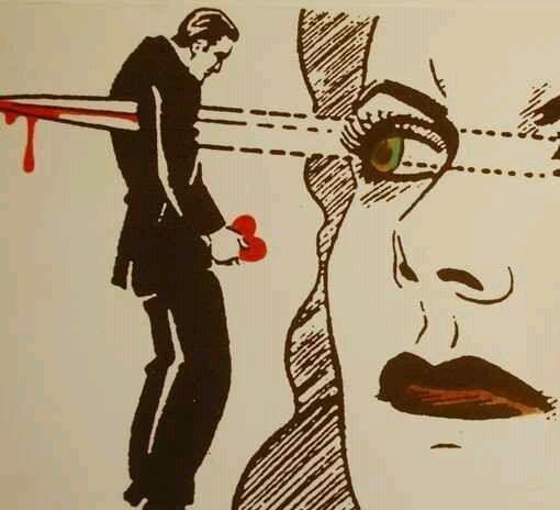 我把心交给了你,你却用冷漠的眼神杀死了我