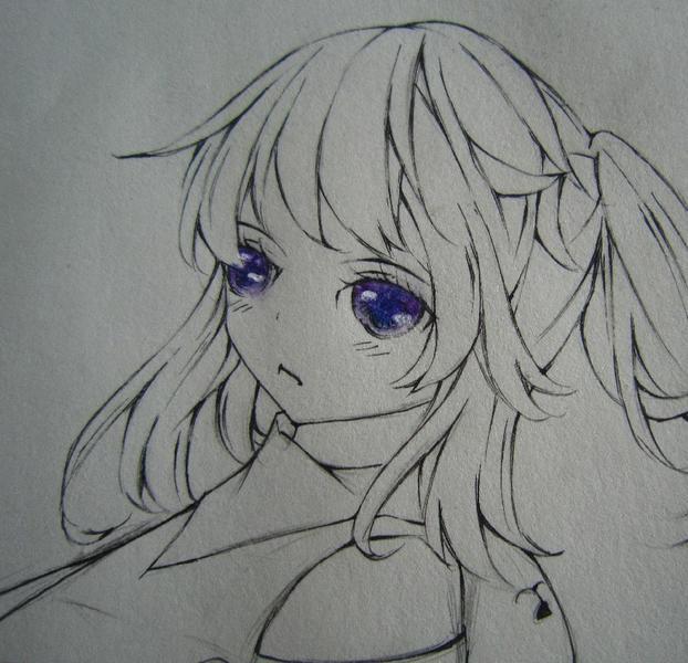 手绘头发高光怎么画