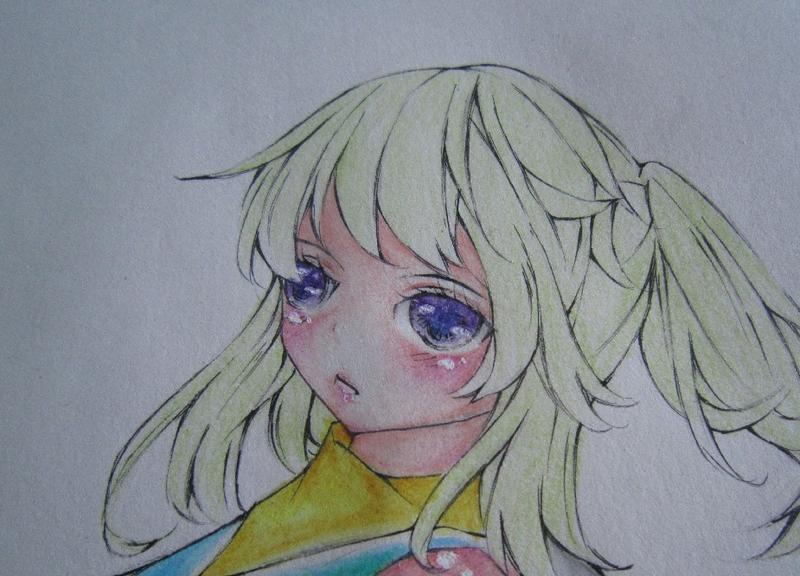 【原创·彩铅】眼睛头发上色x4!