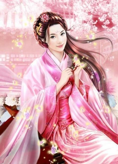 古装美女丹青_古代公主丹青图片_女装