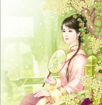 个性手绘唯美古典美女头像