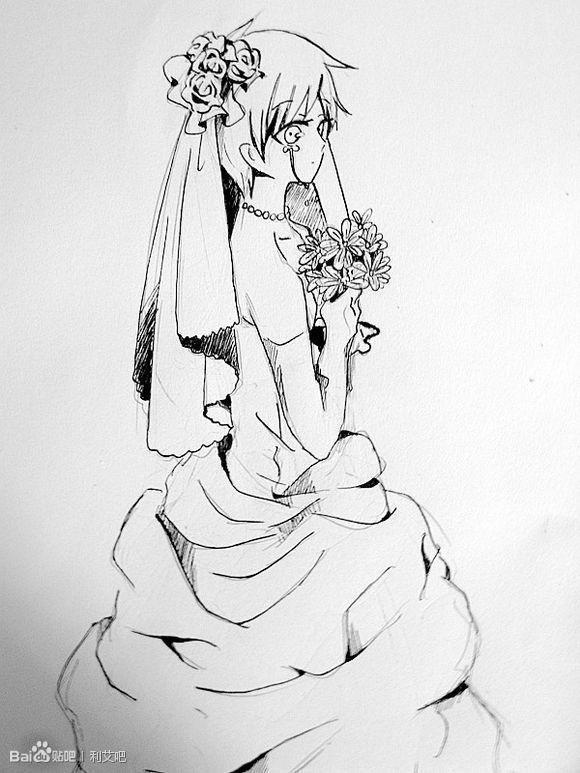 短婚纱设计手绘