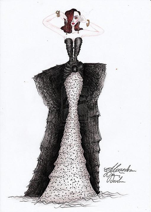 手绘婚纱;; 服装设计