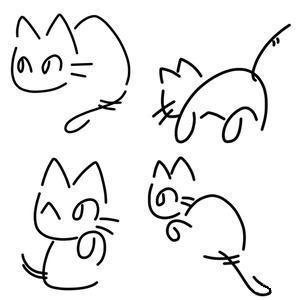 教大家画可爱的小萌猫