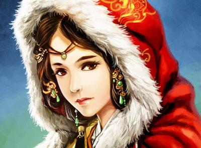 古装妃嫔手绘、