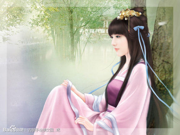 古代女子丹青图片