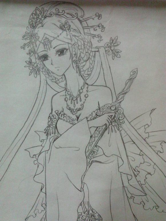 手绘古装美女